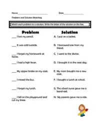 Problems and Solutions Assessment and Worksheets by Mrs