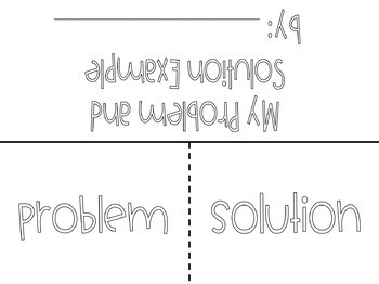 Problem and Solution Graphic Organizer and Printables by