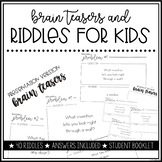 Brain Teasers For Middle School Worksheets & Teaching