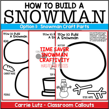 How To Build a Snowman {with Craft} ~ Procedural Text by