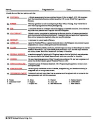 Progressive Era Vocabulary Worksheet Collection for US ...
