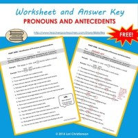 Pronoun-Antecedent Identification Worksheet by BiblioFiles ...