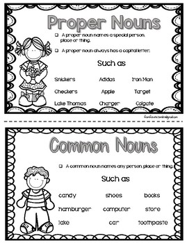Proper and Common Nouns Activity With Worksheets by Mr