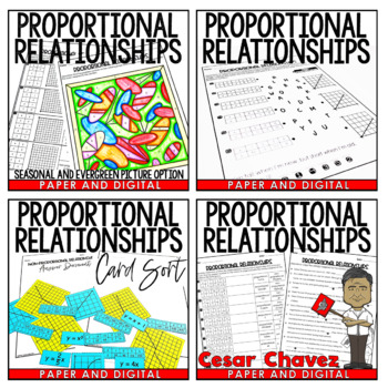 Proportional Relationships Activity Pack by Jessica