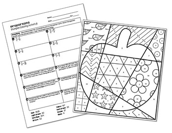 Proportions (with Word Problems) Coloring Activity by All