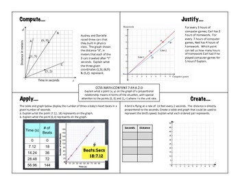 Proportions and Ratios 7th grade Math: Compute, Justify