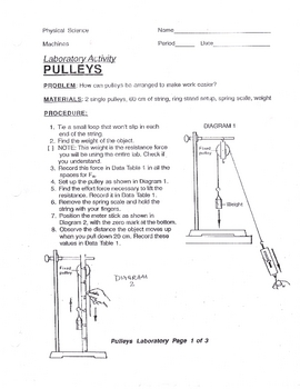 Student Exploration Pulley Lab Answer Key
