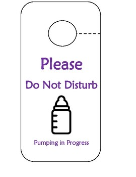 pumping door sign holy cow. do not disturb free printable