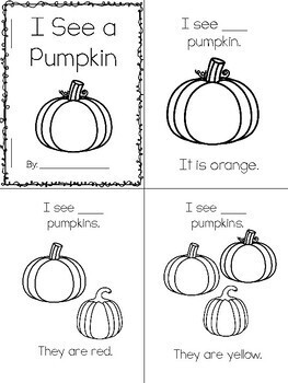 Pumpkin Count & Color Emergent Reader by Mrs Thompson's