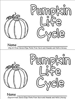 Pumpkin Life Cycle Emergent Reader for Kindergarten