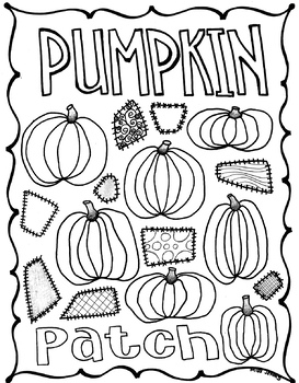 Pumpkin Patch Color Pages : pumpkin, patch, color, pages, Pumpkin, Patch, Coloring, Thanksgiving., Autumn., THANK
