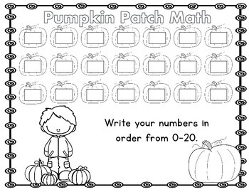 Pumpkin Patch Fall Themed Math Center Kindergarten Common