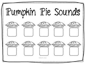 Pumpkin Pie Center {Beginning Sounds} by Mrs Hoffer's Spot