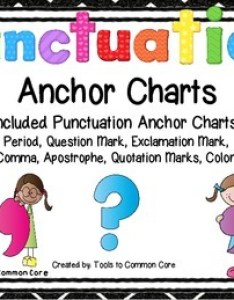 Punctuation anchor charts also by tools to common core tpt rh teacherspayteachers