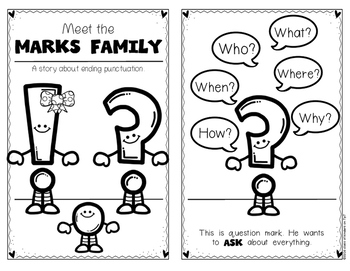 Punctuation for Kindergarten and First Grade {The Marks