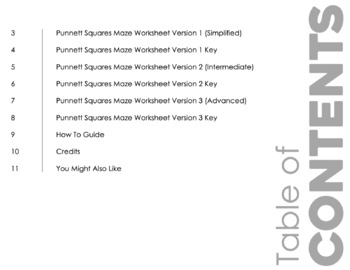 Punnett Squares Maze for Review or Assessment by Science