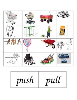 Push and Pull Cut and Paste by Dena McCloskey   Teachers ...
