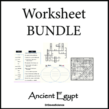 Science of Ancient Egypt Worksheet Packet by Dr Dave's