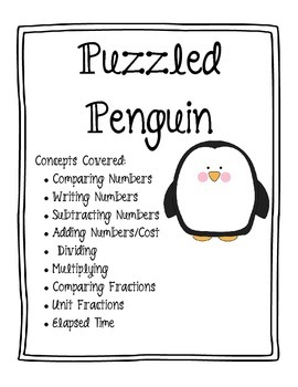Puzzled Penguin Math Word Problems by Creative Learning