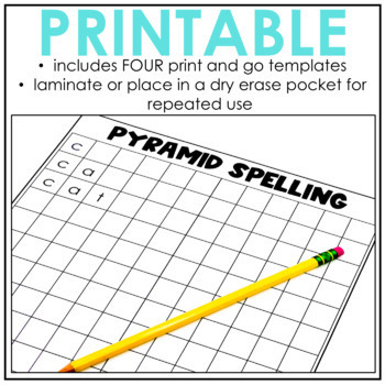 Pyramid Spelling {A NO PREP word work activity} by