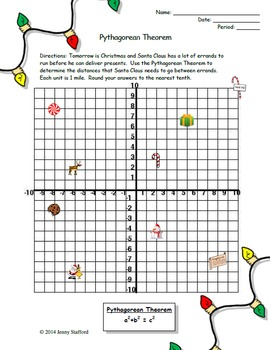 Pythagorean Theorem Activity (Christmas Edition) by Math