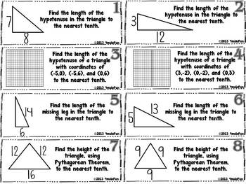 Pythagorean Theorem Graphic Organizer and Practice