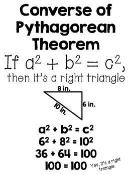 Pythagorean Theorem Posters Set by 8th Grade Math Teacher