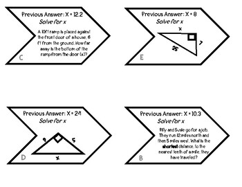 Pythagorean Theorem Snake Puzzle by That One Crazy Teacher