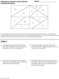 Pythagorean Theorem Word Problems Coloring Worksheet by ...