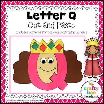 Letter Q Craft Queen By Crafty Bee Creations Tpt