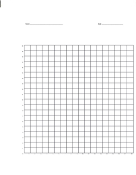 Quadrant 1 Coordinate Graph Mystery Picture, Jacob Cat by