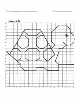 Quadrant 1 Coordinate Graph Mystery Picture, James the