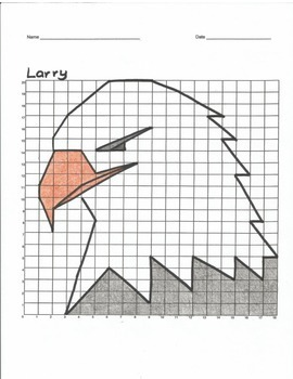 Quadrant 1 Coordinate Graph Mystery Picture, Larry the