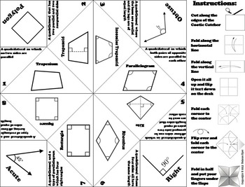 Classifying Quadrilaterals Activity/ Foldable by Science