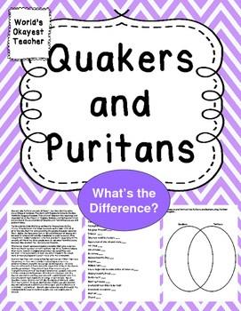 pilgrims vs puritans venn diagram hampton by hilton dortmund phoenix see quakers and what s the difference world okayest teacher