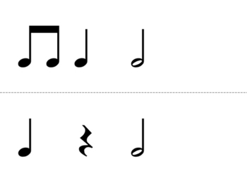 Quarter Note, Eighth Note, Quarter Rest, and Half Note