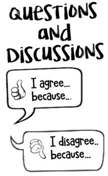 Questions and Discussion Stems by bigheartshapelittleminds