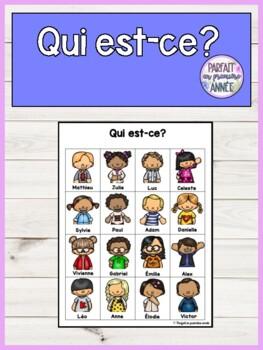Qui Est-ce Jeu : est-ce, Est-ce?, Communication, Orale, Parfait, Premiere, Annee