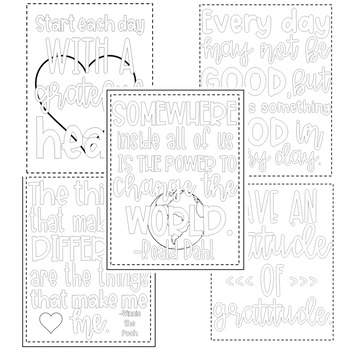 Quotable Coloring Sheets + Writing Prompts: YEAR-LONG
