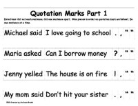 Quotation Mark Activities and Worksheets by Stefanie ...