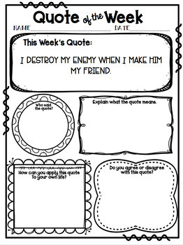 Quote of Week *36 Quotes* in Color and Black & White with