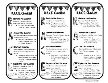R.A.C.E. Bookmark & Graphic Organizer by Expedition Teach