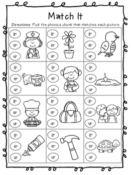 R-Controlled Vowels (ir, er, and ur) Worksheets by Rachel