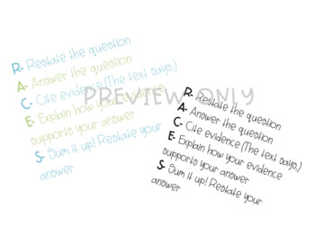 RACES Writing Strategy Poster FREEBIE! by Engaged in