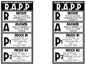RAPP Strategy Bookmarks and Graphic Organizer by The Fun