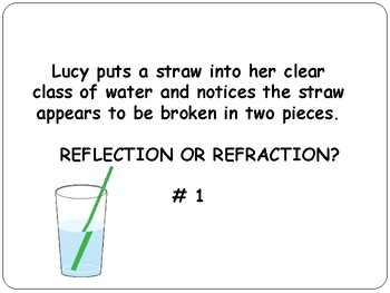 REFLECTION / REFRACTION: Light Energy Common Core 4.P.3. 2