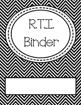 RTI (Response to Intervention) Binder Cover and Spine by