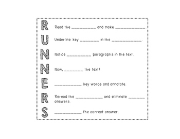 RUNNERS Bookmarks & Interactive Notebook Note Page by The