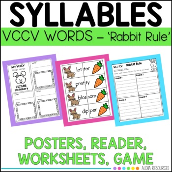 Closed Syllables Rabbit Words practice. {{double consonant