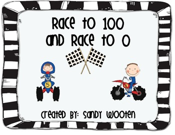 2.NBT.1 Race to 0 and Race to 100 Place Value Math
